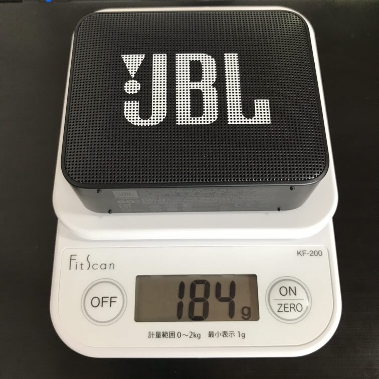 JBL GO2の重さ